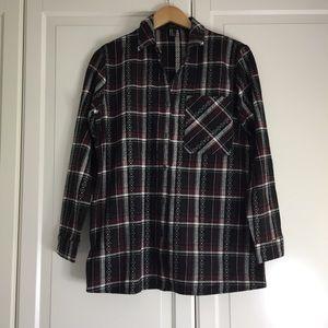 🔥2 for $40🔥 Forever 21 Burgundy Plaid Shirt